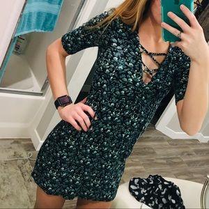 Lace up topshop dress